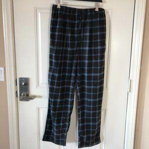 NWT Perry Ellis Men's Plaid Fleece Pajama Lounge